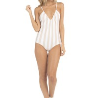 Lolli Swim Kisses One Piece - Nudie Stripes