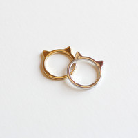 Cat Ears Ring from Papers & Peonies