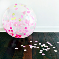 Sweet Lulu - Jumbo Confetti Balloon: Lulu Pinks & Gold