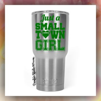 SMALL TOWN GIRL - STAINLESS STEEL MUG - monogram vinyl decal designs - tumblers