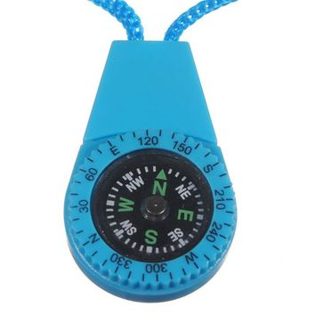 More Useful Survival Mini Compasses Scale Type With Water Hang Rope Random Color High Quality Mini Survival Compasses
