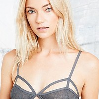 Silence + Noise Cut-Out Bralette in Grey - Urban Outfitters