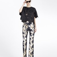 Cynthia Rowley - Oversized Floral Lace Tee