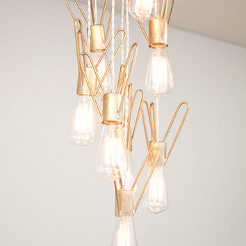 Retronaut Chandelier  8 Bulb Rocket Lamp W/Edison by dylangrey