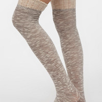 Spacedye Ruffle-Cuff Over-The-Knee Sock