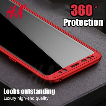 H&A Soft TPU Silicone 360 Protected Full Phone Case For Samsung Galaxy S8 S8 Plus Cover Case For Samsung S8 Shockproof Shell