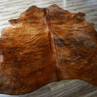 "Exclusive Genuine Natural Cowhide Rug, Hide, Pelt,  Giant XXXL 83"" x 106"" Carmel Color"