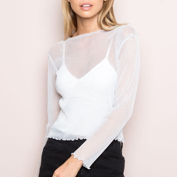 Rene Glitter Top - Tops - Clothing