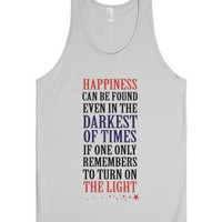 Happiness In The Darkest of Times (Tank)-Unisex Silver Tank