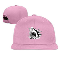 Ferocious Shark Fitted Fishing Cap Hat