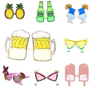 Novelty Hawaiian Beach Sunglasses Goggles for Stag, Party, Fancy Dress Costume Party Eyewear