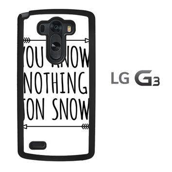 You Know Nothing Jon Snow X0229 LG G3 Case