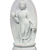 Hand Craved Stone Statue Standing Buddha in Varada Mudra India Art 6""
