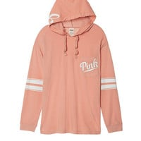 Long Sleeve Campus Hoodie - PINK - Victoria's Secret