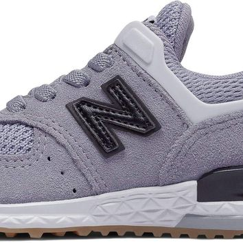 New Balance Kids' 574v1 Sport Hook and Loop Sneaker