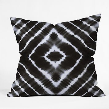 Monika Strigel WAKE UP CALL BLACKWHITE Outdoor Throw Pillow