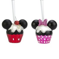 Disney 2ct Mickey and Minnie Mouse Cupcake Countdown Ornament Set