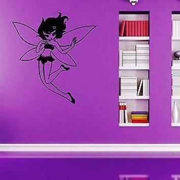 Wall Stickers Vinyl Decal Nursery Fairy Magic Girl Cartoon For Kids Unique Gift ig1626