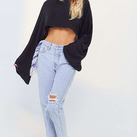 Project Social T Claire Bell-Sleeve Cropped Top | Urban Outfitters