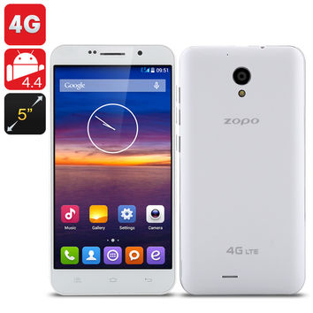 ZOPO ZP320 4G Smartphone - 5 Inch QHD 960x540 Screen, Android 4.4 OS, 8GB Internal Memory (White)