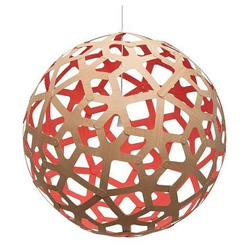 David Trubridge Painted Coral Pendant Light