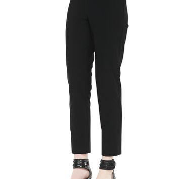 Women's Washable Stretch-Crepe Ankle Pants - Eileen Fisher - Black (XX-SMALL)