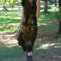 Beautiful One of A Kind Uniquely Hand Dyed Hooded Dress S-M