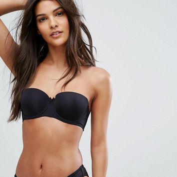 New Look Microfibre Strapless Bra at asos.com