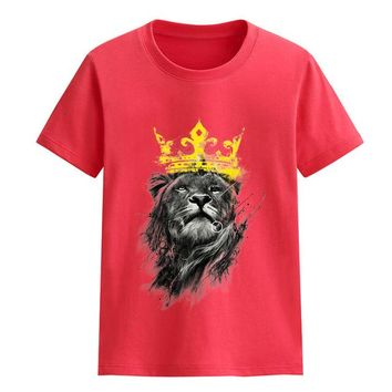 Punk Hipster T-shirt 2018 Summer T-shirts For Boys King Of Lion Printed Streetwear Rock  Children's T-shirt For Girl Baby Clothes Top Shirt AT_47_3