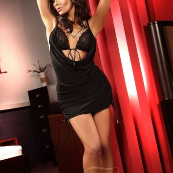 Beauty Night Francesca Black Babydoll Dress