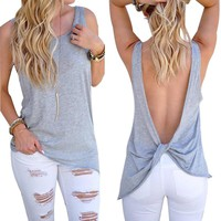 Sexy backless tank top Women tops
