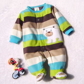 Baby Rompers Clothes Baby Clothing Winter Newborn Baby Boy Girl Clothes Fleece Jumpsuit Bear Overalls Next Baby Snowsuit Costume