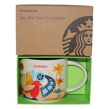 Starbucks You Are Here Cannes Ceramic Coffee Mug New with Box