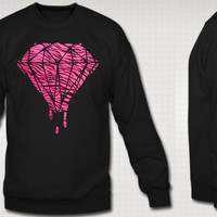 Diamond Pink Zebra Crew Neck Sweatshirt