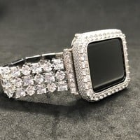 Reserved for Carr 38mm  Apple Watch Band   Womens Mens Silver Princess Rhinestone Exchange
