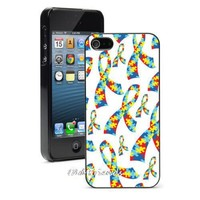 Autism Awareness Ribbons Phone Case Cover for iphone 4 5s 5c SE 6 6s 6plus 6splus Samsung galaxy s3 s4 s5 s6 s7 edge