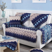 Fleeced Fabric Sofa Cover Bohemian Printing Soft Modern Slip Resistant Sofa Slipcover Seat Couch Cover for living Room