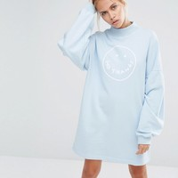 Lazy Oaf Oversized Sweatshirt With No Thanks Print