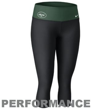 Nike New York Jets Women's Dri-FIT Legend Performance Capri Pants - Black-Green