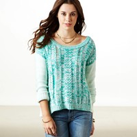 AE Cable Marled Sweater | American Eagle Outfitters
