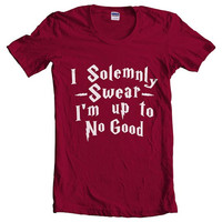 I Solemnly Swear I'm Up to no Good women short sleeves t-shirt tee