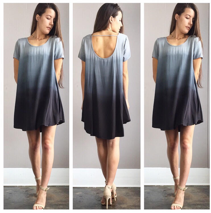 A Blue Stone Ombre Flowy Sleeved Dress From Shop Three Little