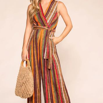 Finish Line Striped Jumpsuit