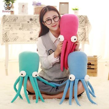 Children plush stuffed toy Octopus pillow