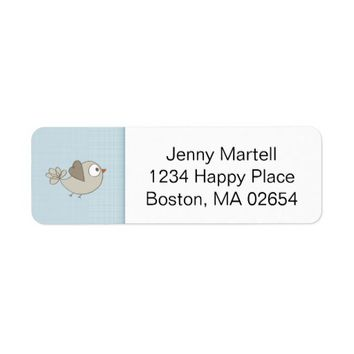 Blue Baby Clothes | Return Address Label