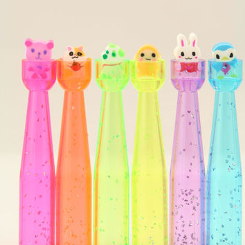 Pencil Toppers with Itsy Bitsy Animal Erasers