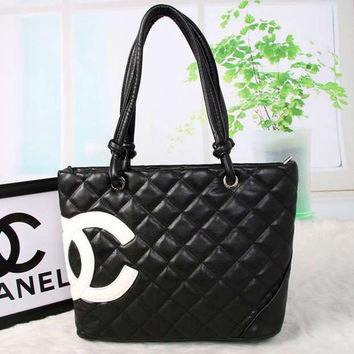 CHANEL Women Fashion Shopping Bag Leather Tote Handbag Shoulder Bag