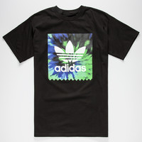 Adidas Tie Dye Blackbird Mens T-Shirt Black  In Sizes