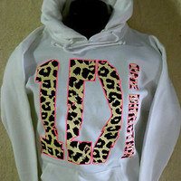 ONE DIRECTION~ HOODIE~SWEATSHIRT~PULLOVER Boy Band Fan ~ with ANIMAL Print~ NEW