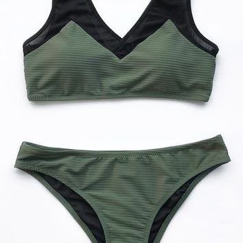 Cupshe Intimate Touch Mesh Bikini Set